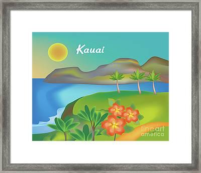 Kauai Hawaii Horizontal Scene Framed Print by Karen Young