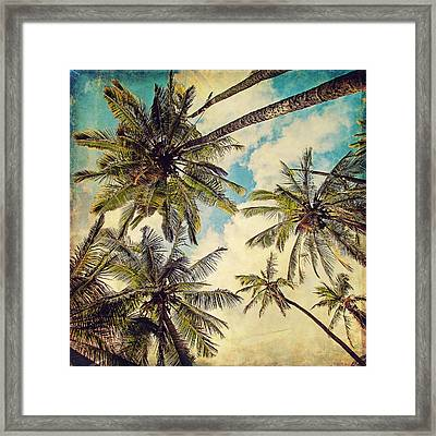 Kauai Island Palms - Blue Hawaii Photography Framed Print