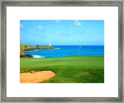 Hokuala - Ocean Course Hole #15 Framed Print