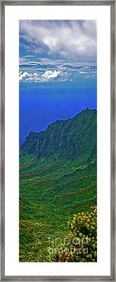 Kauai  Napali Coast State Wilderness Park Framed Print by Tom Jelen