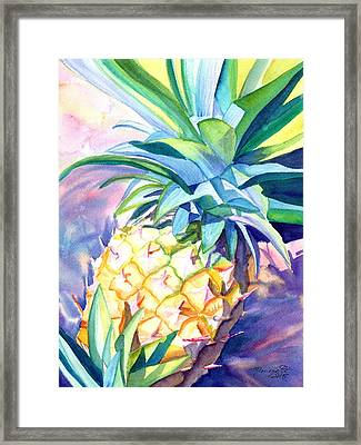 Framed Print featuring the painting Kauai Pineapple 3 by Marionette Taboniar