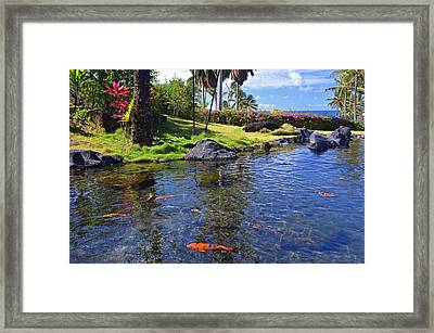 Kauai Serenity Framed Print by Marie Hicks