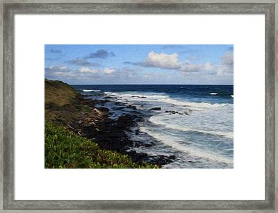 Kauai Shore 1 Framed Print