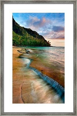 Kauai Shore Framed Print by Monica and Michael Sweet