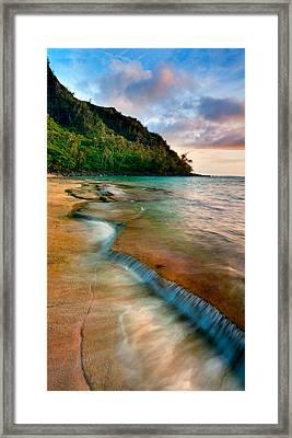 Kauai Shore Framed Print by Monica and Michael Sweet
