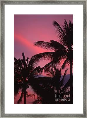 Kauai Sunset 2 Framed Print by Stan and Anne Foster