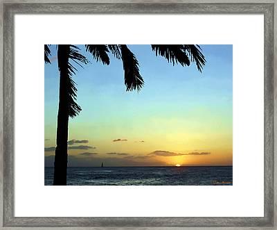 Kauai Sunset Framed Print by Ellen Henneke
