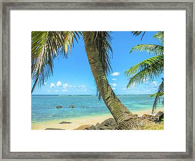 Kauai Tropical Beach Framed Print