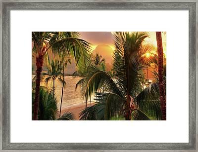 Olena Art Kauai Tropical Island View Framed Print