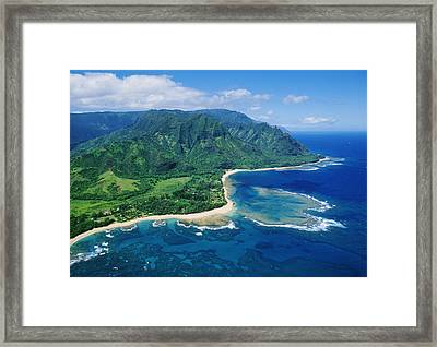 Kauai, Tunnels Beach Framed Print by Greg Vaughn - Printscapes