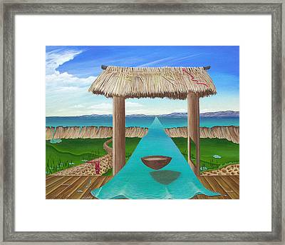 Kava Flow Framed Print by Sharon Ebert
