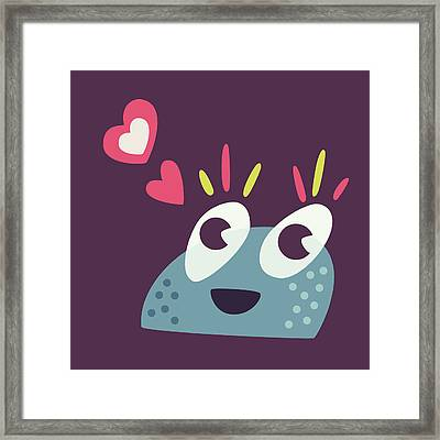 Kawaii Cute Cartoon Candy Character Framed Print by Boriana Giormova