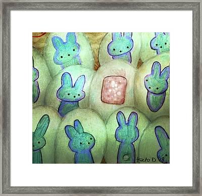 Kawaii Hatchery Crop Framed Print