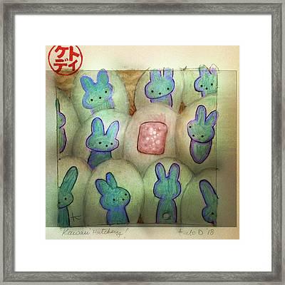 Kawaii Hatchery Framed Print