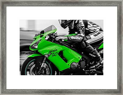 Kawasaki Ninja Zx-6r Framed Print