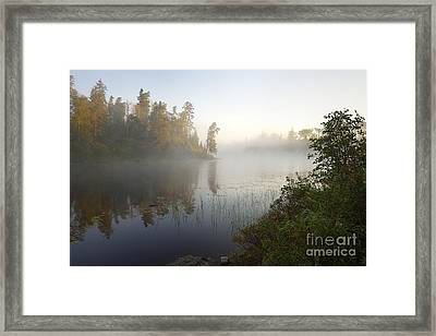 Framed Print featuring the photograph Kawishiwi Morning Fog by Larry Ricker