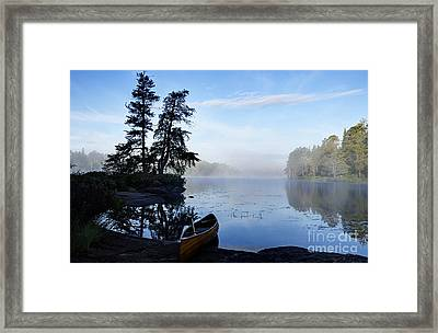 Kawishiwi Morning Framed Print by Larry Ricker
