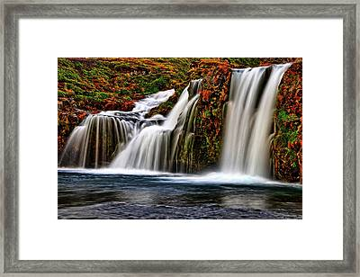 Framed Print featuring the photograph Kay Falls by Scott Mahon