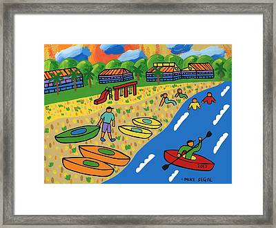 Kayak Beach - Cedar Key Framed Print