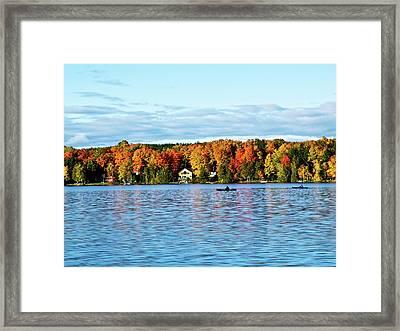 Kayak Delight Framed Print by Ragina Kakos