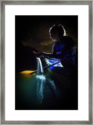 Kayak In The Biobay Framed Print by Karl Alexander