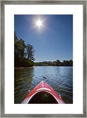 Kayak Morning Framed Print