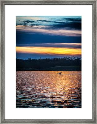 Kayak Sunset Framed Print