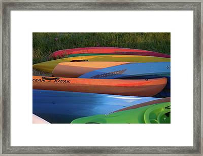 Framed Print featuring the photograph Kayak by Tom Romeo
