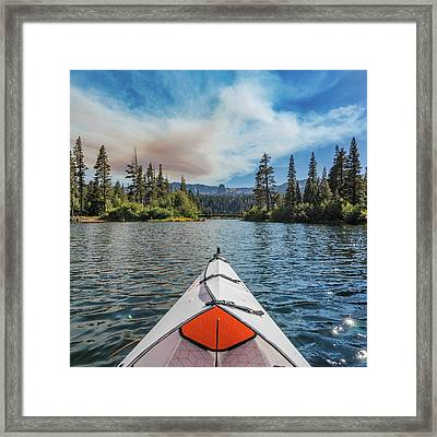 Kayak Views Framed Print