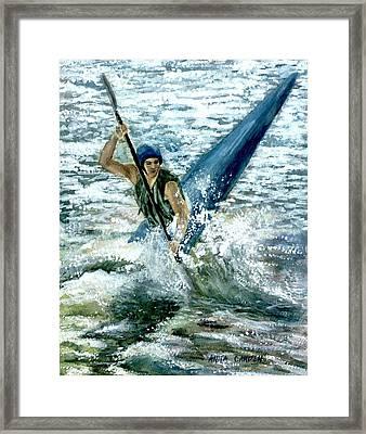 Kayaker Framed Print by Anita Carden