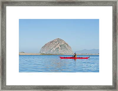 Kayaker In Morro Bay Framed Print by Bill Brennan - Printscapes
