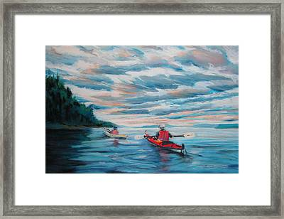 Kayakers Framed Print