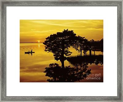 Kayaking At Sunset 2 Obx Framed Print by Jeff Breiman