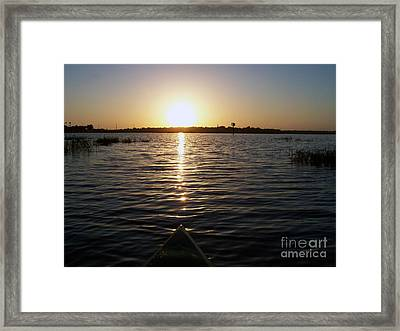 Kayaking Dawn Framed Print