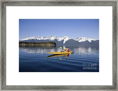 Kayaking Favorite Passage Framed Print by John Hyde - Printscapes