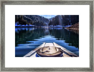 Kayaking In Mccloud Framed Print