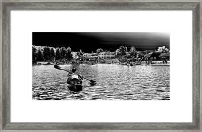 Kayaking On Old Forge Pond Framed Print