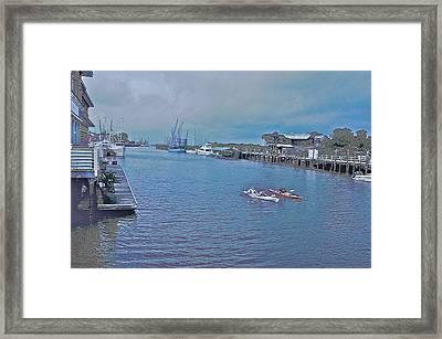 kayaking on Shem Creek Framed Print