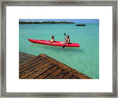 Kayaking Perfection 1 Framed Print