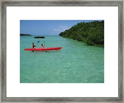 Kayaking Perfection 2 Framed Print