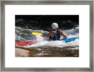 Framed Print featuring the photograph Kayaking The Brule by Ron Read