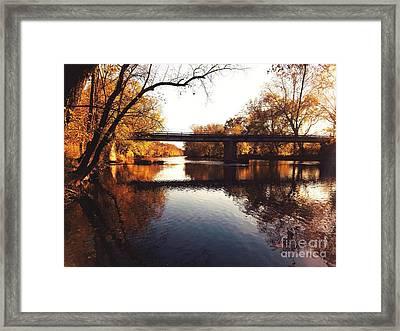 Kayaking The Driftwood River - Autumn Bliss Framed Print