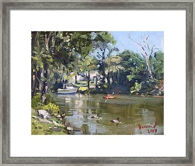 Kayaking Framed Print