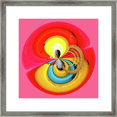 Framed Print featuring the photograph Kayaks Orb by Bill Barber