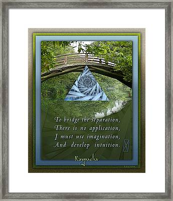 Kaypacha's Mantra 5.19.2015 Framed Print by Richard Laeton