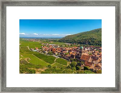 Kaysersberg -  Along The Alsatian Wine Route Framed Print by W Chris Fooshee