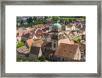 Half-timbered Houses, Kaysersberg Alsace France Framed Print by Marco Arduino