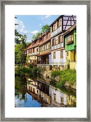half-timbered house, Kaysersberg, Alsace, France Framed Print by Marco Arduino