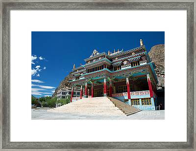 Framed Print featuring the photograph Kaza Monastery by Yew Kwang