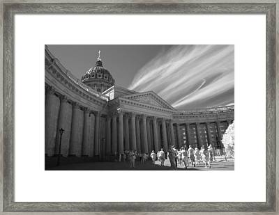 Kazan Cathedral. Saint-petersburg. Infrared Framed Print by Dmitry Soloviev